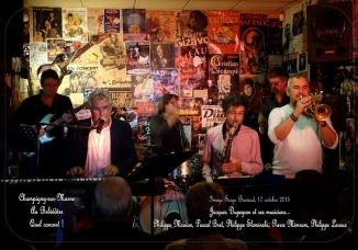 Avec Philippe Slominski à la trompette, Pierre Mimran au sax, Philippe Mouton à la basse, Pascal Bret à la guitare, Assen Tsankov à la batterie
