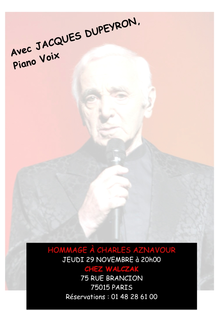 Hommage aznavour